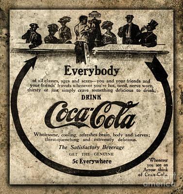 Coca-cola Sign Photograph - Antique Coca Cola Advertisement by John Stephens