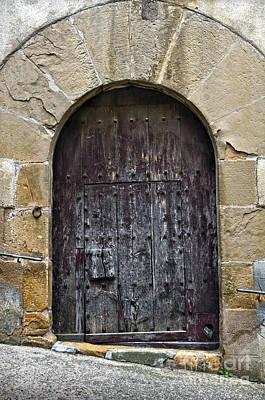 Teruel Photograph - Antique Door With Cat Flap by RicardMN Photography