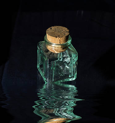 Stopper Photograph - Antique Glass Bottle by David French