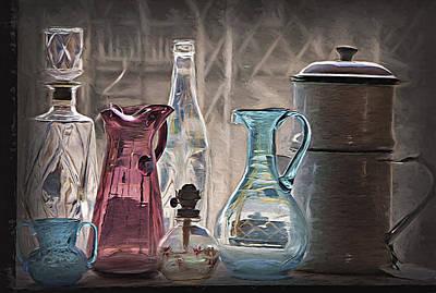 Antique Glassware Print by Steve Ohlsen