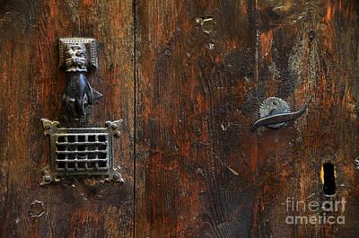 Teruel Photograph - Antique Hand Door Knocker Spyhole Handle And Keyhole by RicardMN Photography