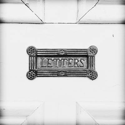 Mail Box Photograph - Antique Letterbox by Tom Gowanlock
