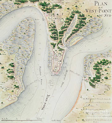 Virginia Drawing - Antique Map Of West Point  Virginia by F Dubourg