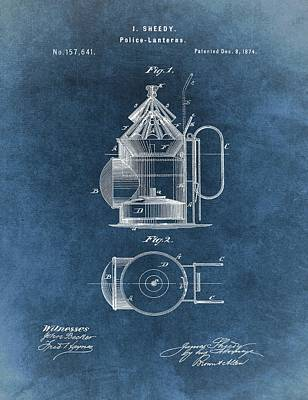 Antique Police Lantern Illustration Print by Dan Sproul