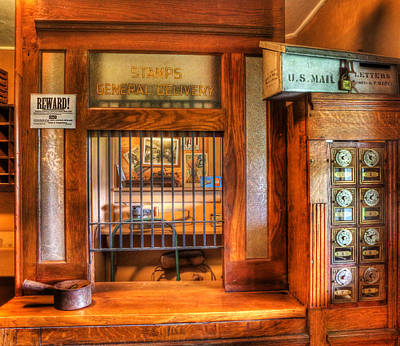 Mail Box Photograph - Antique Post Office At The General Store -  by Lee Dos Santos