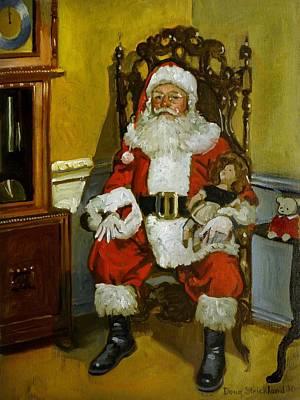 Santa Claus Painting - Antique Santa by Doug Strickland