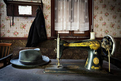 Antique Singer Sewing Machine - Abandoned House Print by Dirk Ercken