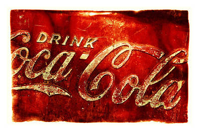 Coca-cola Signs Photograph - Antique Soda Cooler 2a by Stephen Anderson