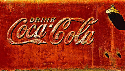 Coca Cola Sign Photograph - Antique Soda Cooler 3 by Stephen Anderson