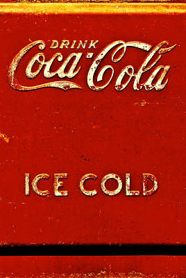 Coca-cola Signs Photograph - Antique Soda Cooler 6 by Stephen Anderson
