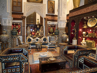 Antique Store In The Souk, Fes, Morocco Print by Panoramic Images
