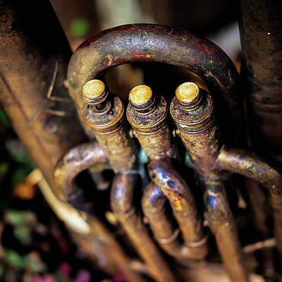 Tuba Photograph - Antique Tuba by Jon Woodhams