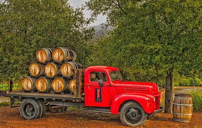 Antique Winery Truck Print by Mountain Dreams
