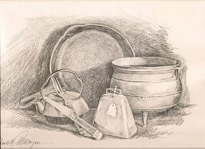 Fries Drawing - Antiques In Iron by Judith Angell Meyer
