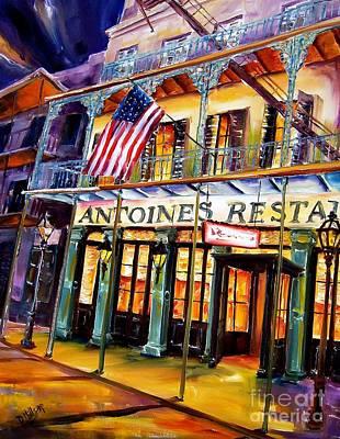 Night Life Painting - Antoines In New Orleans by Diane Millsap