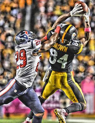 Pittsburgh Steelers Painting - Antonio Brown Steelers Art 4 by Joe Hamilton