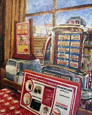 Jukebox Painting - Antonio's View by Kristen Fogarty