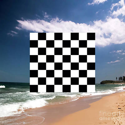 Que Photograph - Anyone For Chess? With Sharkeys Beach Nsw On The South Coast Of Australia In The Background. by Josephine Caruana