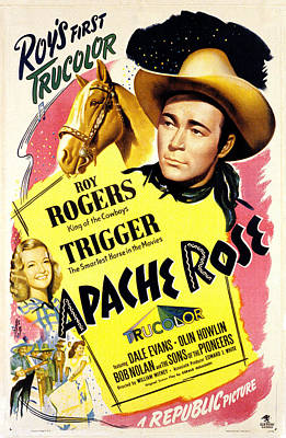 Apache Rose, Roy Rogers, Dale Evans Print by Everett