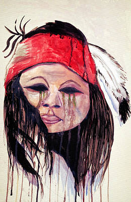 Black History Painting - Watercolor Painting Of Apache Tears By Ayasha Loya by Ayasha Loya Aka Pari  Dominic