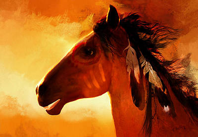 Horse Painting - Apache by Valerie Anne Kelly