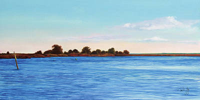 Apalachicola Bay Autumn Morning Print by Paul Gaj