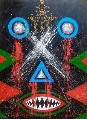 Vodou Painting - Apartheid And The Dark Triad by Sela Adjei