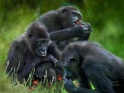 Ape Mixed Media - Ape Moods by Carol Cavalaris