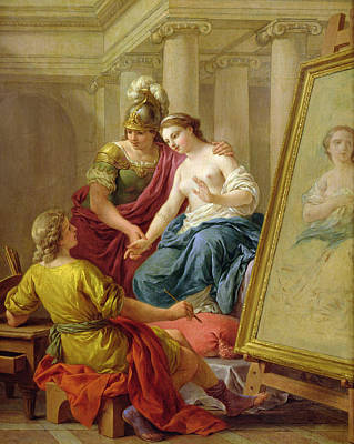 Apelles In Love With The Mistress Of Alexander Print by Louis Jean Francois I Lagrenee