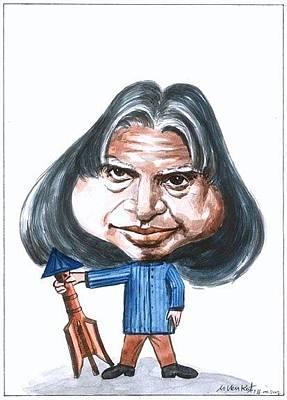 Painting - Apj Kalam by Venkat Meruvu