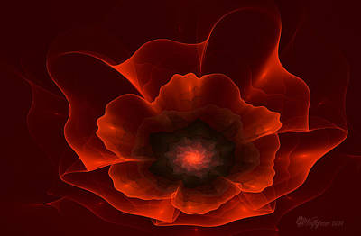 Abstract Digital Photograph - Apo Oriental Poppy by Peggi Wolfe