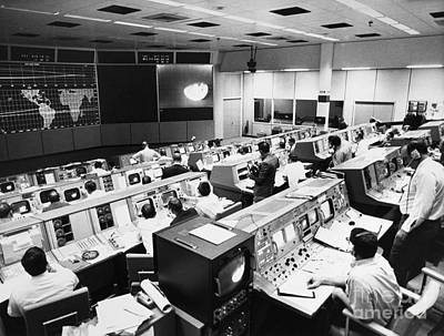 Space Exploration Photograph - Apollo 8: Mission Control by Granger
