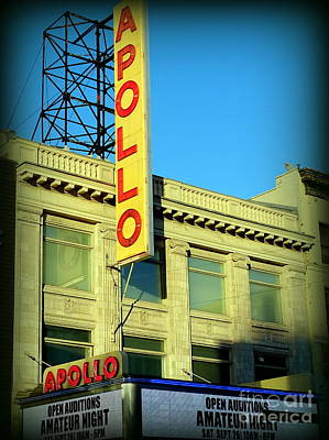 Apollo Theater Photograph - Apollo Vignette by Ed Weidman