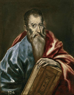 Greek Painting - Apostle by El Greco