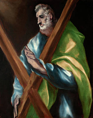 Catholic Painting - Apostle Saint Andrew by El Greco