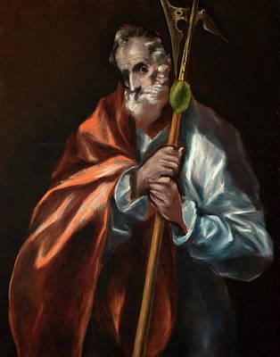 Apostle Saint Thaddeus, Jude Print by El Greco