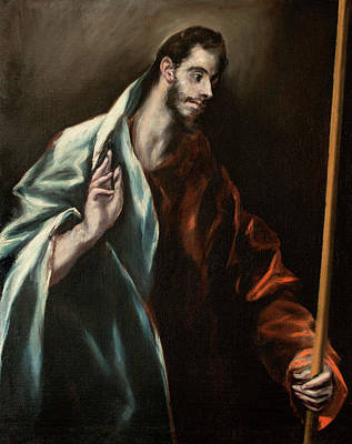 Doubting Painting - Apostle Saint Thomas by El Greco