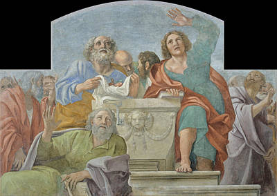 Sepulchre Painting - Apostles Around The Empty Sepulchre by Annibale Carracci