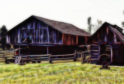 Tree Photograph - Appalachian Farm Barn by D Hackett