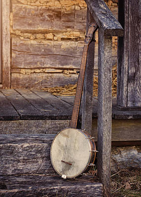 Log Cabin Photograph - Appalachian Instrument by Heather Applegate