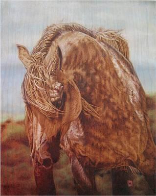 Appaloosa Bythe Sea Original by Cynthia Longhat-Adams