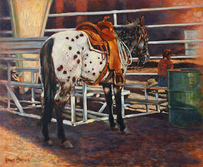 Cowgirls Painting - Appaloosa by Harvie Brown