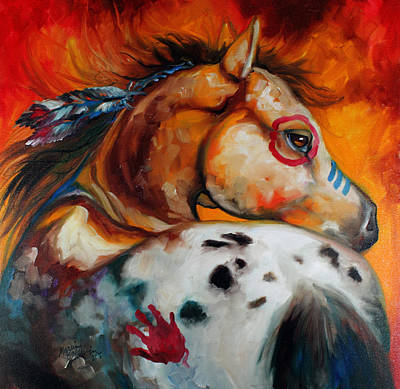 Painted Painting - Appaloosa Indian War Pony by Marcia Baldwin
