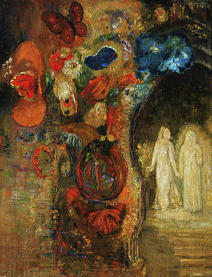 Animal Symbolism Painting - Appearance by Odilon Redon