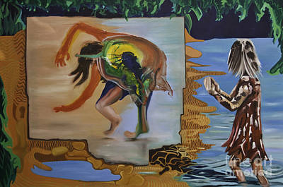 Clapping Painting - Applauding The Cartwheel by James Lavott