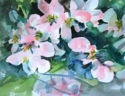 Berkshire Hills Living Painting - Apple Blossom Time by Len Stomski