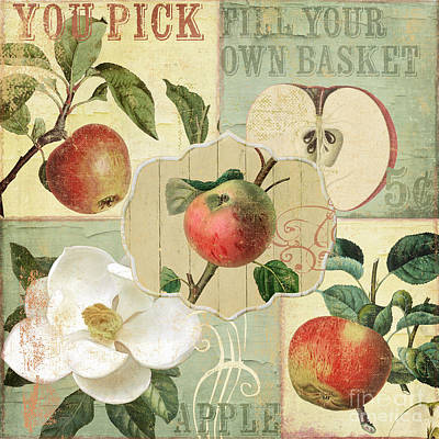 Apple Blossoms Patchwork IIi Print by Mindy Sommers