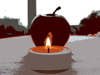 Candle Lit Mixed Media - Apple By Candlelight by Patrick J Murphy