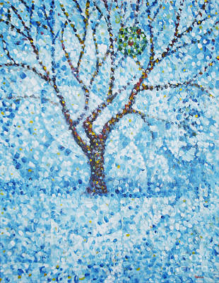Winter Scene Painting - Apple Orchard / Winter by Jim Rehlin