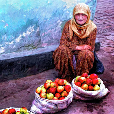 Eastern Europe Painting - Apple Seller by Dominic Piperata